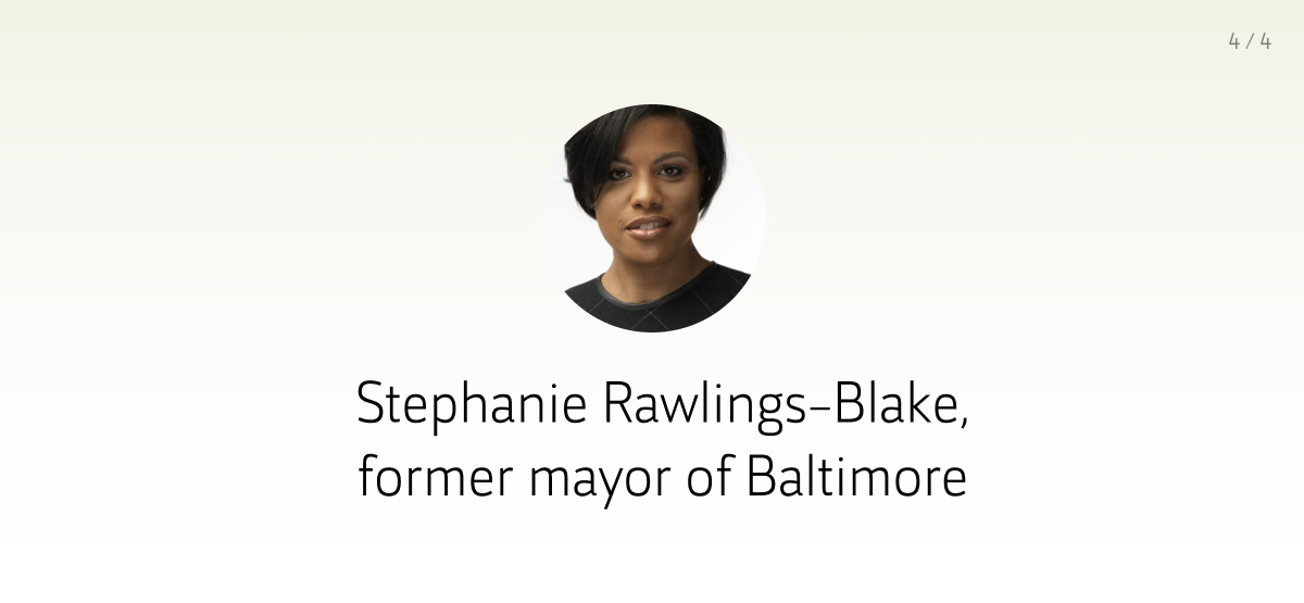 Advisor: Stephanie Rawlings-Blake